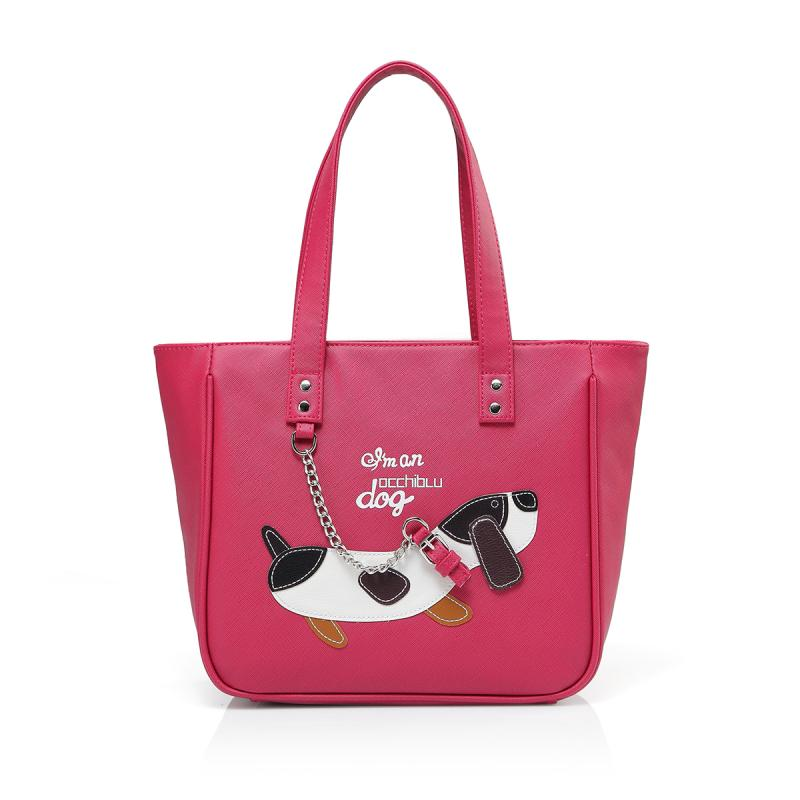 BORSA A SPALLA MEDIA DOG SAFFIANO D129BO