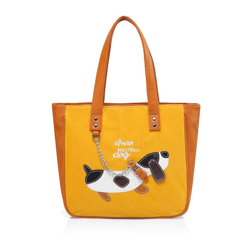Borsa a spalla media DOG3 camoscio D314BO
